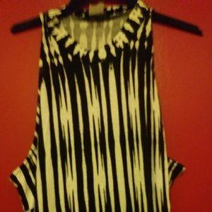 Sexy Black and White Maxi Dress by VENUS